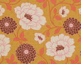 Bungalow - Maize Dahlia - Cotton Print Fabric by Joel Dewberry from Free Spirit
