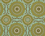 "Bungalow - Forest Doily - Cotton Sateen Fabric - 54/55"" by Joel Dewberry from Free Spirit"