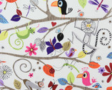 Just Hanging - Natural - Cotton Print Fabric from Alexander Henry