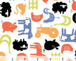 Free Range - Flat Farm - Organic Cotton Print Fabric from Monaluna
