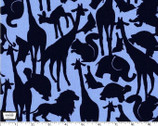 Oh Baby Animal Silhouettes Navy - Cotton Print Fabric by Cynthia Rowley from Michael Miller