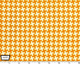 Textured Basics - Vintage Houndstooth Tangerine Orange by Patty Young from Michael Miller