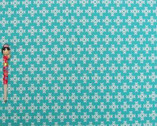 Garden - Cross Print Teal - Light Weight Canvas by Ellen Luckett Baker from Kokka Fabrics