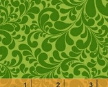 Swirl Basics - Quail Swirl Green Cotton Print Fabric from Windham Fabrics