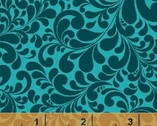 Swirl Basics - Quail Swirl Teal Cotton Print Fabric from Windham Fabrics