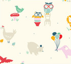 Everyday Party - Everyday Animals - Organic Cotton Print from Birch Organic Fabric