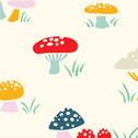 Everyday Party - Mushrooms - Organic Cotton Print from Birch Organic Fabric