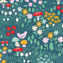 Everyday Party - Meadow Floral - Organic Cotton Print from Birch Organic Fabric