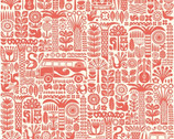 Ipanema - Main Coral by Dennis Bennett - Organic Cotton Fabric from Birch Organic Fabric