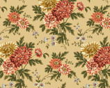 Chrysanthemum Natural Flower - Cotton Print Fabric from Maywood Studio