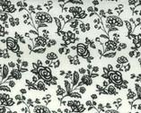Monotone Magic - Cream Black Floral from Lecien