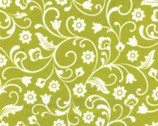 Catalina - Flora Chartreuse by Kanvas Studio from Benartex
