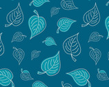Dream A Little Dream - Navy Leaves from Camelot Fabric