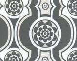 Zest - Grey Stripe Floral Pearlized by Kanvas Studio from Benartex