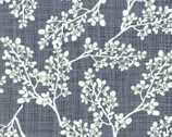 Autumn Woods - Berries Teal Grey by Katie Birdie - Cotton Print Fabric from Moda