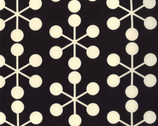 Comma - Asterisk Black Cotton Print Fabric by Zen Chic from Moda