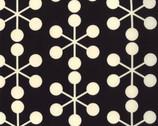 Comma - Asterisk Black Cotton Print Fabric by Zen Chic from Moda