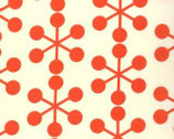 Comma - Asterisk Tangerine Orange Natural Cotton Print Fabric by Zen Chic from Moda