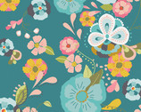 Emmy Grace - Floral Floats Fresh Premium Cotton Print Fabric by Bari J. from Art Gallery