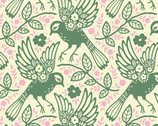 Up Parasol - Loden Meadowlark by Heather Bailey from Free Spirit Fabric