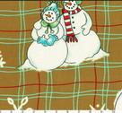 Snowflakes - Snowmen from Lecien Japan