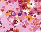 Valentine - Sorbet Pink Heart Floral from Robert Kaufman