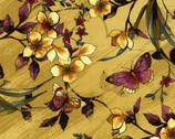 Sofia - Ochre Floral Butterflies from Timeless Treasures