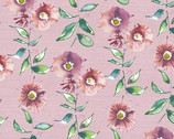 Wildflower - Mulberry Pink Cotton Print fabric from Free Spirit