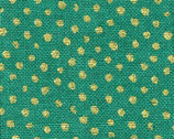 Confetti Sparkle - Turquoise Green Mini Dots with Metallic Cotton Print Fabric from Dear Stella
