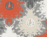 Indelible - Time is Deer Ember by Katerina Roccella from Art Gallery Fabrics