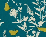 Bungalow - Teal Swallow Study - Cotton Print Fabric by Joel Dewberry from Free Spirit
