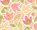 Bella Feature Floral Orange - Cotton Print Fabric from Blend Fabrics