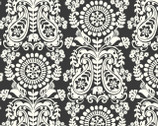 Global Bazaar Chimera Grey Charcoal - Cotton Print Fabric from Blend Fabrics