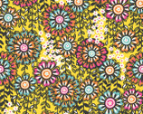 Global Bazaar Swinging Blossoms Yellow - Cotton Print Fabric from Blend Fabrics