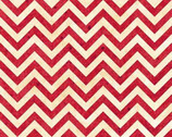 Heart Strings - Red Cream Small Chevron by Marie Cole from Henry Glass