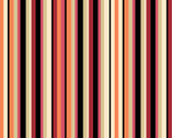 Garden View - Vertical Stripe Orange by Lisa Audit from Wilmington Prints