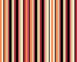 Garden View - Vertical Stripe Orange by Lisa Audit from Wilmington Prints
