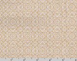 Whisper Prints - Flower Tile Taupe from Robert Kaufman