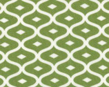 Simply Style - Geometric Ogee Light Lime Green by V and Co from Moda