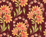 Tapestry - Marskesh Garent Floral Burgundy by Fig Tree Co from Moda