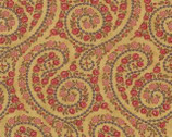 Vin Du Jour - Paisley Scrolls Gold by 3 Sisters from Moda