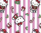 Hello Kitty - Christmas Stripe from Springs Creative