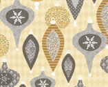 Holiday Sparkle - Ornaments Cotton Print Fabric from Wilmington Prints