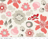 Lost and Found 2 - Main Red Floral by My Mind's Eye from Riley Blake