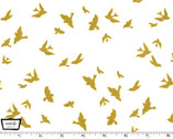 Brambleberry Ridge - Flight White by Violet Craft - Cotton Print Fabric from Michael Miller