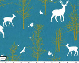 Brambleberry Ridge - Timber Valley Teal by Violet Craft - Cotton Print Fabric from Michael Miller