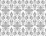 Black Tie Boogie - Light Gray by Sandy Clough from Red Rooster Fabrics