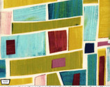 Edges Collage - Spice by Laura Gunn Cotton Print Fabric from Michael Miller
