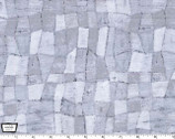 Edges Tonal Mosaic Platinum Gray by Laura Gunn from Michael Miller