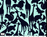 Oh Baby - Animal Silhouettes - Mint by Cynthia Rowley from Michael Miller